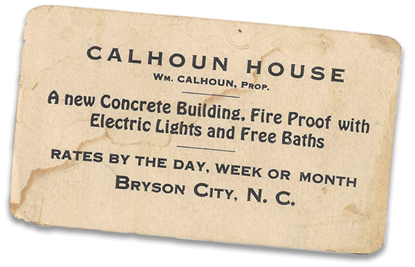 Early ad for Calhoun House
